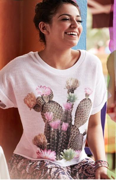 shirt cactus crop top