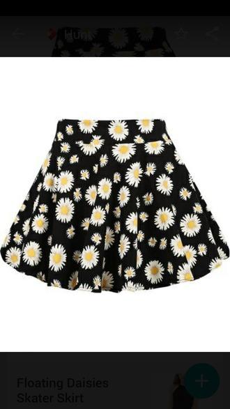 skirt daisy fashion skater skirt summer