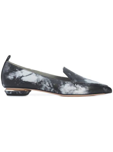 Nicholas Kirkwood women loafers leather grey shoes