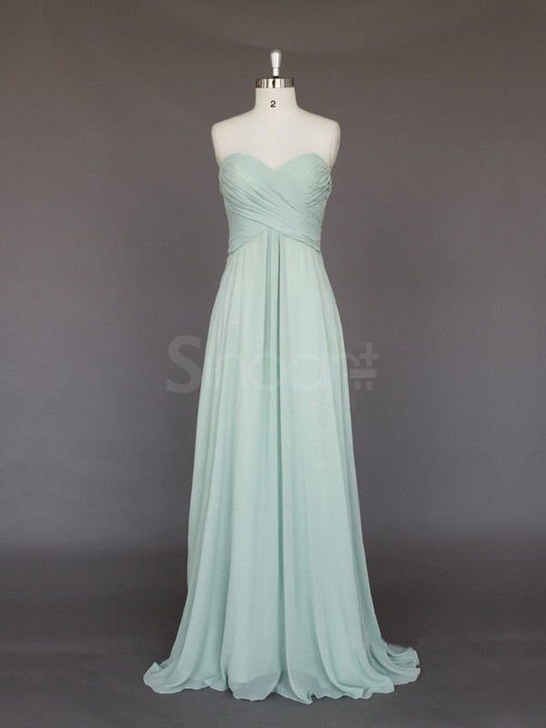 dress light green dress for prom and wedding party sweetheart neckline and natural waistline