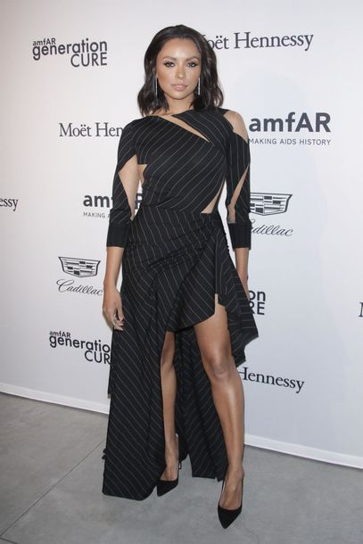 dress kat graham asymmetrical asymmetrical dress pumps stripes striped dress