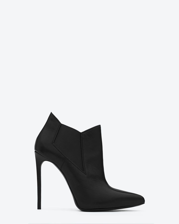 Saint Laurent CLASSIC PARIS 110 ANKLE BOOT IN BLACK LEATHER | ysl.com