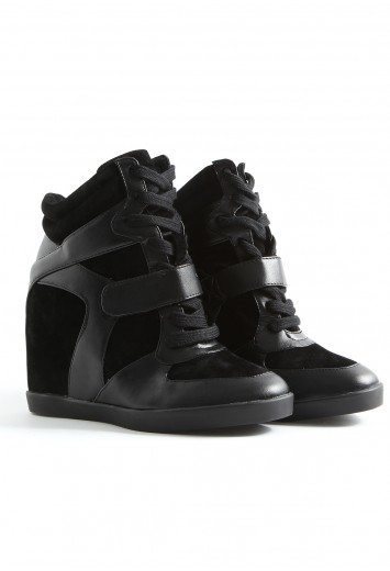 Allexa Wedge Hi Top Trainers-wedges-missguided