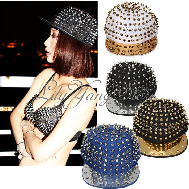 Hedgehog Hip Hop Hat Full Spikes Spiky Studded Rivets Snapback Adjustable Cap US | eBay
