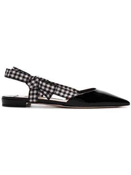 Miu Miu women sandals leather black shoes
