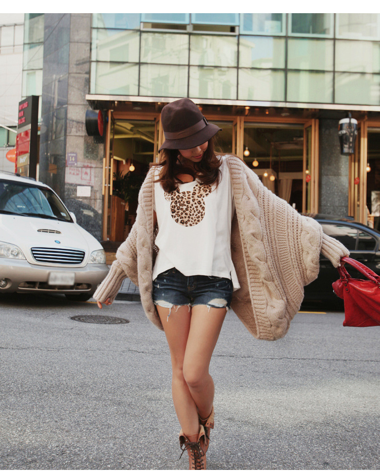Women Lady Knitted Cardigan Batwing Outwear Casual Loose Sweater Coat Wool Tops | eBay