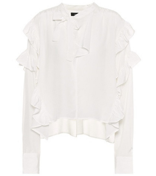 Isabel Marant Libel ruffled silk blouse in white