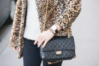 bag reissue bag chanel reissue chanel reissue bag reissue chanel chanel bag black bag watch daniel wellington coat fur coat animal print sweater white sweater