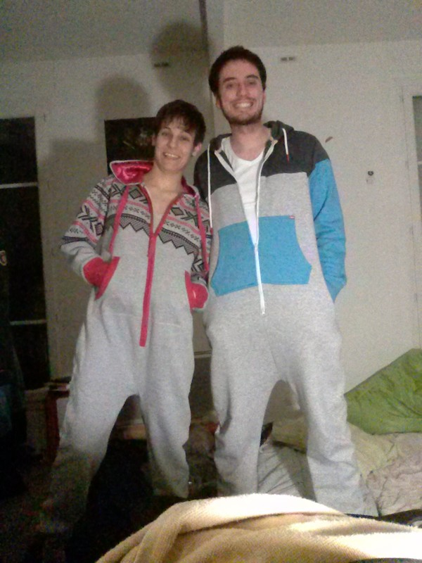 pants grey pink blue onesie cute comfy