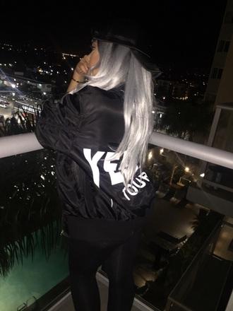 jacket black yeezus bomber jacket