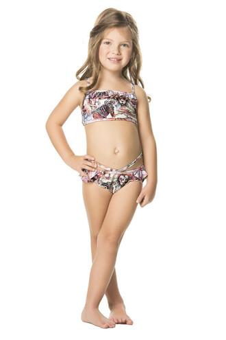 swimwear bikini designer kids print agua bendita kids with swag bikiniluxe