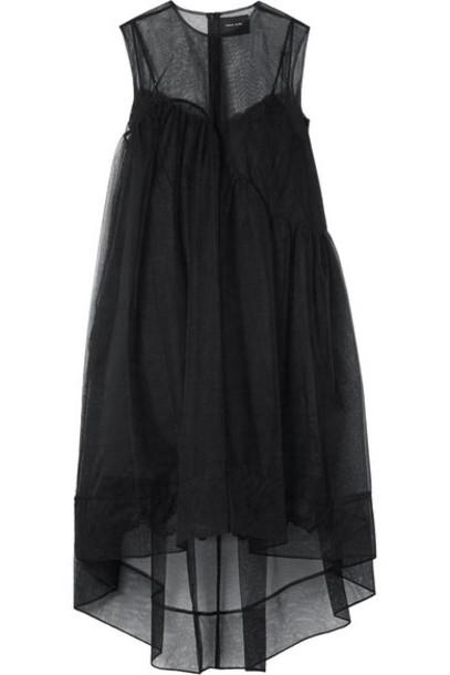 Simone Rocha - Asymmetric Tulle Dress - Black