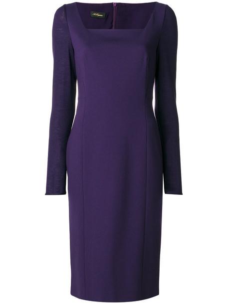 Les Copains dress women classic purple pink