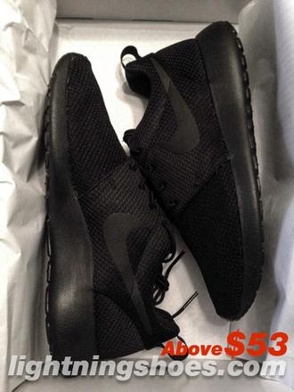 shoes nike roshe run black minimalism women flats sneakers sports shoes running shoes nike running shoes