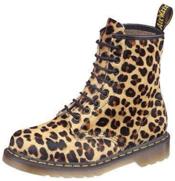 shoes DrMartens cheetah print