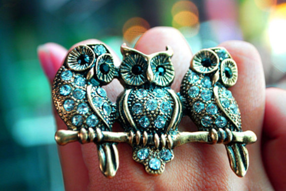 owl jewels accessories ring