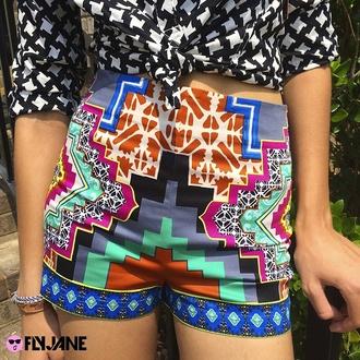 tribal shorts aztec aztec shorts aztec print shorts tribal pattern tribal print shorts