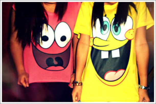 Shirt Clothes Spongebob Pink Yellow Wheretoget