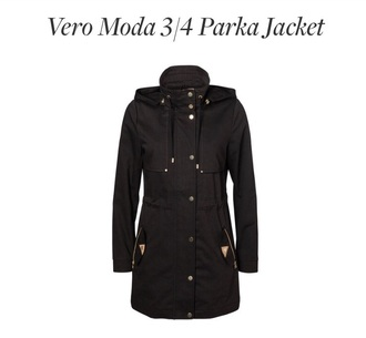coat parka black coat vera moda parka black parka jacket