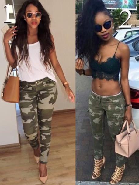 907b0752c1cecb tank top, black, lace, cute, black crop top, black girls killin it ...
