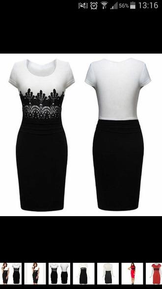 dress black and white dress bodycon dress beautiful dress