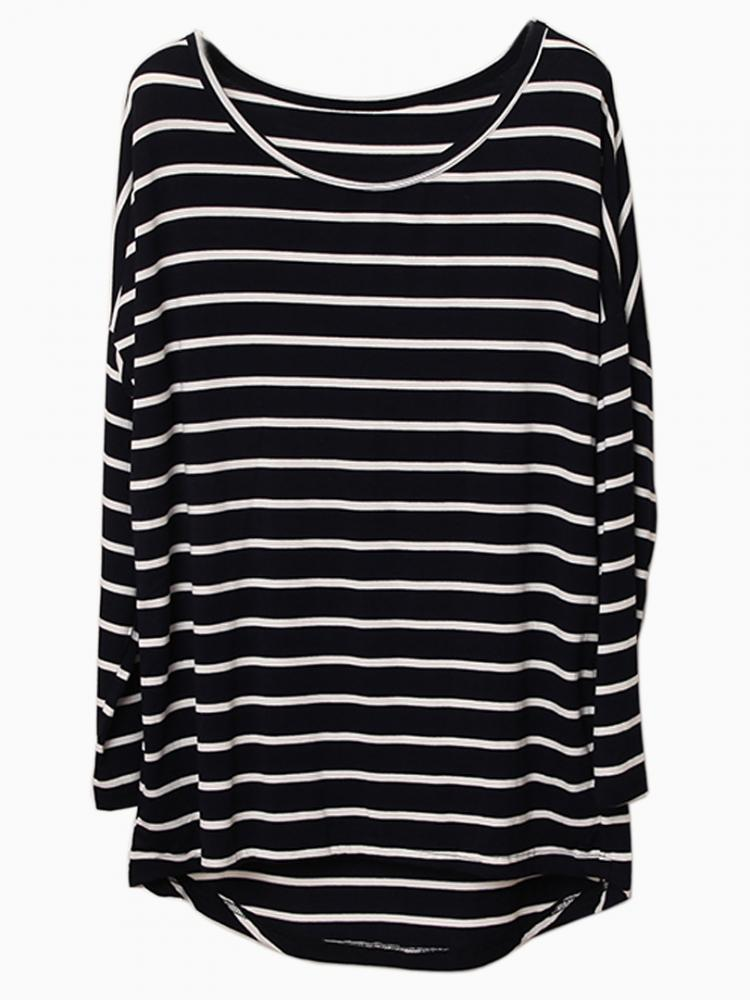 White Stripe T-shirt With Raglan sleeve | Choies