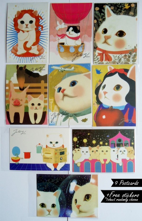 bag cards postcards cats painting color/pattern jetoy alice snowhite stickers once upon a time show