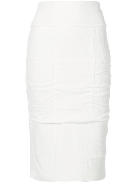 Tom Ford skirt pencil skirt women spandex white silk
