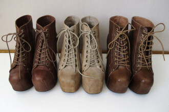 shoes brown boots nude high heels laces boots
