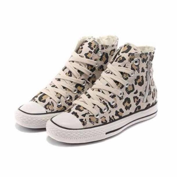 517255815893e4 shoes converse leopard print size3