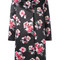 Msgm - flower print coat - women - polyester - 42, black, polyester