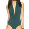 Karla colletto low back plunge swimsuit - spruce