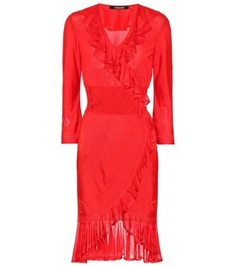 dress knitted dress red