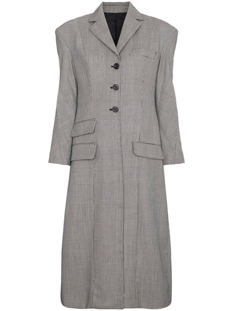 Wright Le Chapelain coat women black wool