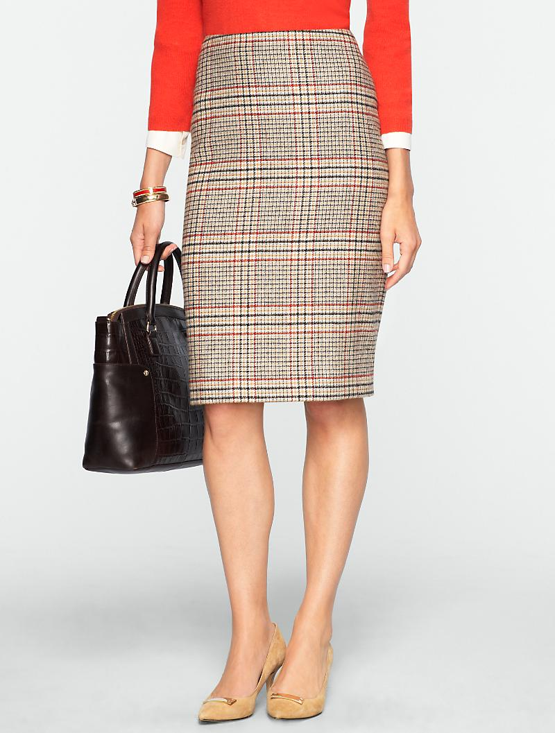 Talbots - Glen Plaid Pencil Skirt