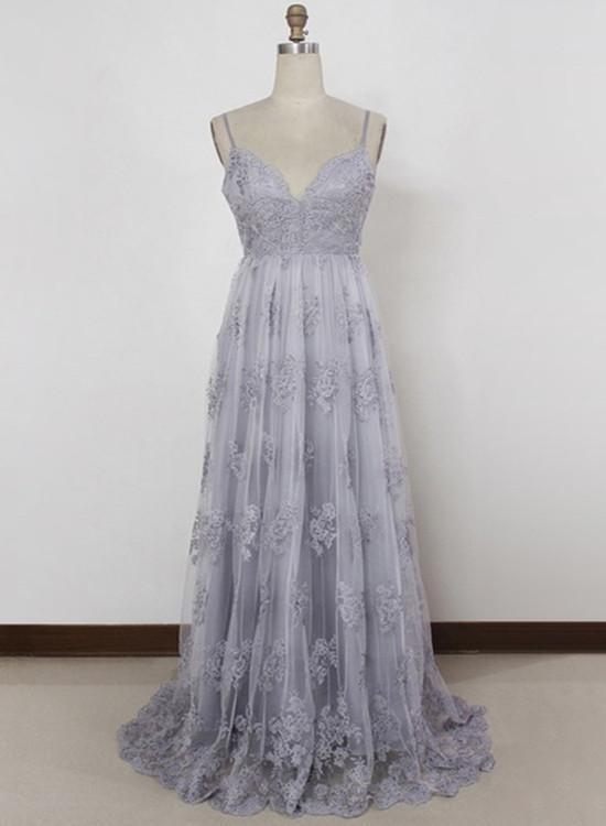 Camila grey & white lace crop top