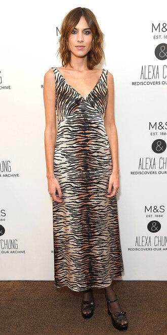 dress alexa chung animal print midi dress