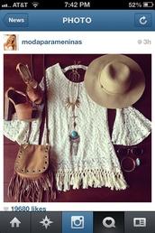 dress,white dress,crochet,white,white crochet dress,crochet dress,fringes,fringed dress,hippie,hippie chic,boho,3/4 sleeves,bell sleeves,tunic,crochet tunic,indie,jewels