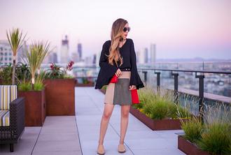 skirt mini skirt suede skirt wide sleeves blogger blogger style patchwork crossbody bag