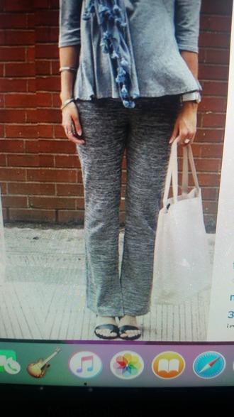 pants gris loose pants