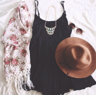 dress clothes black dress little black dress cute dress vest cardigan roses flowers frange jewels jewelry necklace turquoise silver silver necklace turquoise jewelry turquoise jewels sunglasses retro sunglasses retro hat brown hat hippie hippie chic boho boho dress coachella coachella style summer summer dress jacket