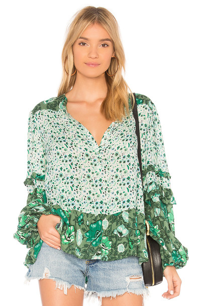 Spell & The Gypsy Collective blouse green top