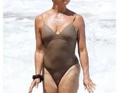 swimwear,one piece swimsuit,brown swimwear