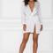 Adara mini satin dress - white