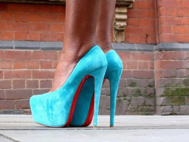 christian louboutin baby blue shoes