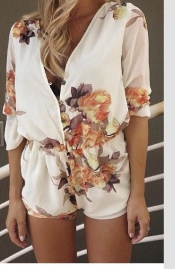 dress floral romper