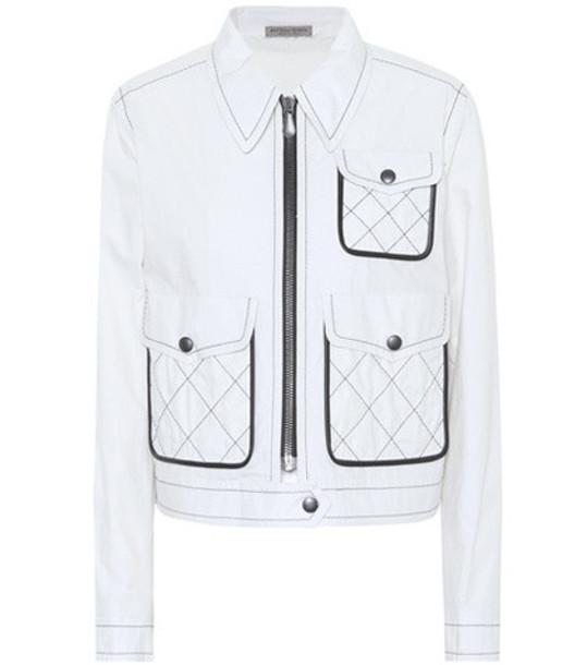 Bottega Veneta Cotton jacket in white