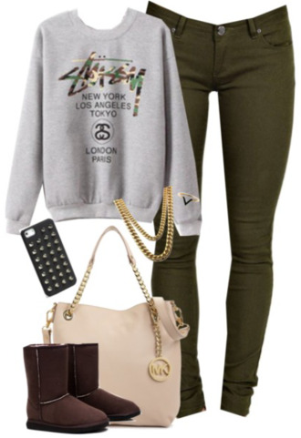 camouflage bag red lime sunday jeans top sweater/sweatshirt ugg boots jewels iphone case michael kors