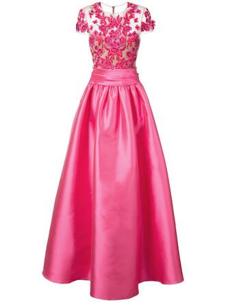 gown romantic women embellished purple pink dress