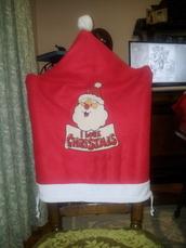 socks,santa claus,christmas,chair hat,i love chrisrmas,christmas chair cover,chair cover